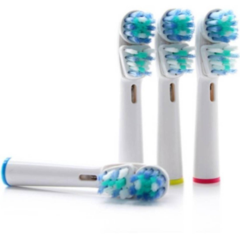 Opzetborstels 8 stuks geschikt voor oral-b-braun-philips tandenborstels-dual clean