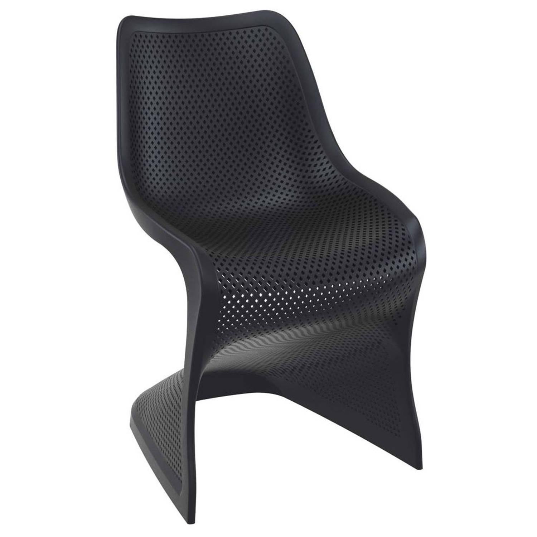 24designs stapelbare stoel salento kunststof zwart for Design stoel 24