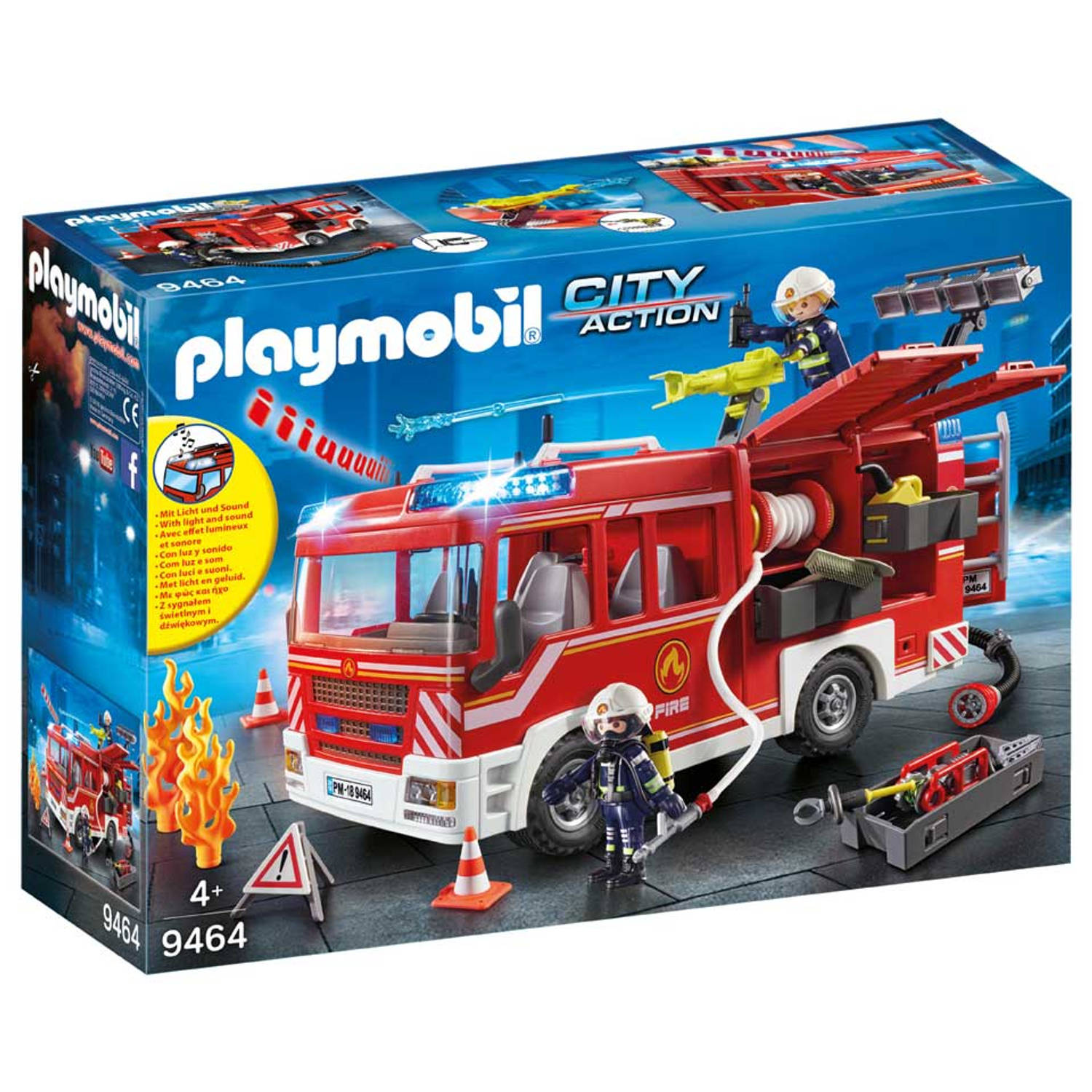 Playmobil City Action - brandweer pompwagen 9464