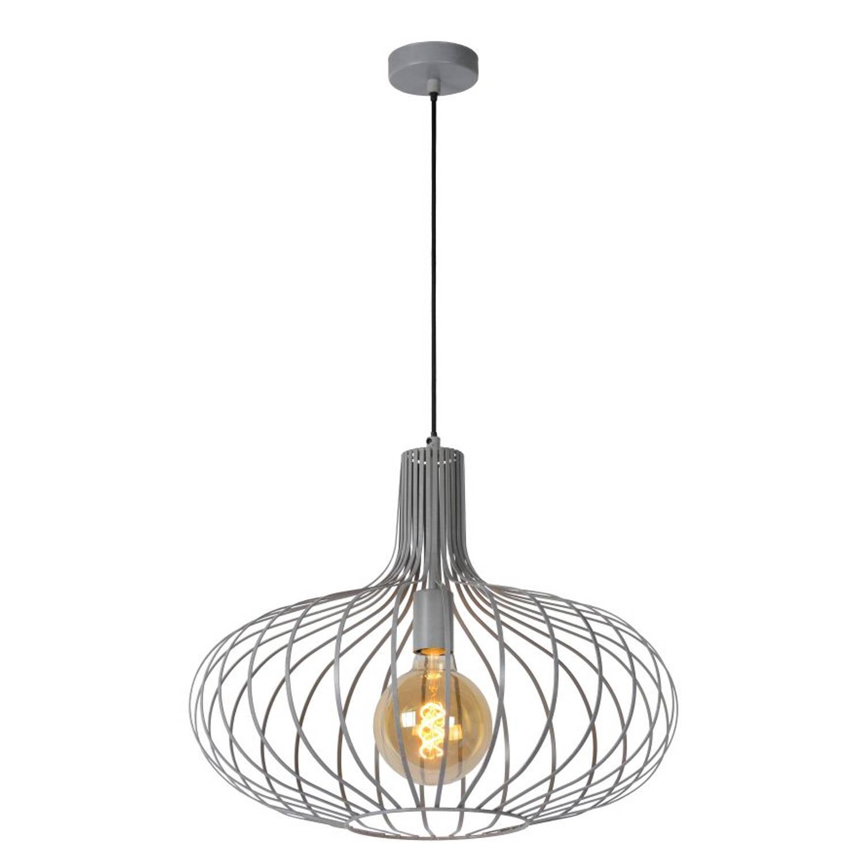 Lucide MANUELA - Hanglamp - Ø 50 cm - Grijs