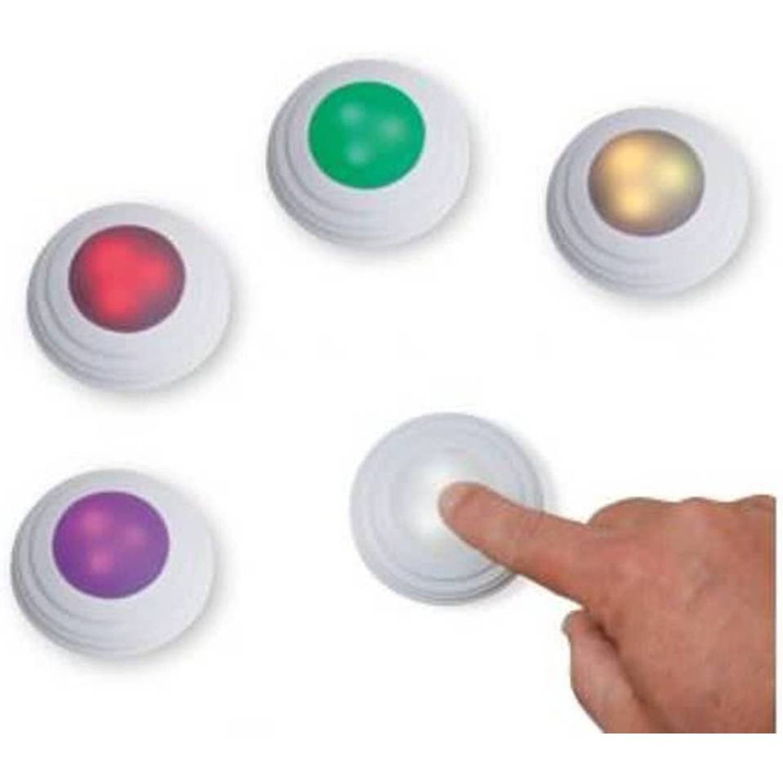 woonkorting wonen verlichting lampen algemeen draadloze led spotjes rgb 5 spots met afstandbediening