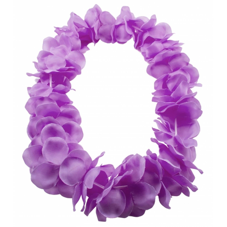 Korting Hawaii Slingers kransen Neon Paars. Hawaii Bloemen Thema Verkleed Accessoires.