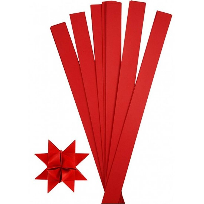 Afbeelding van 100 papieren stroken rood 73 cm