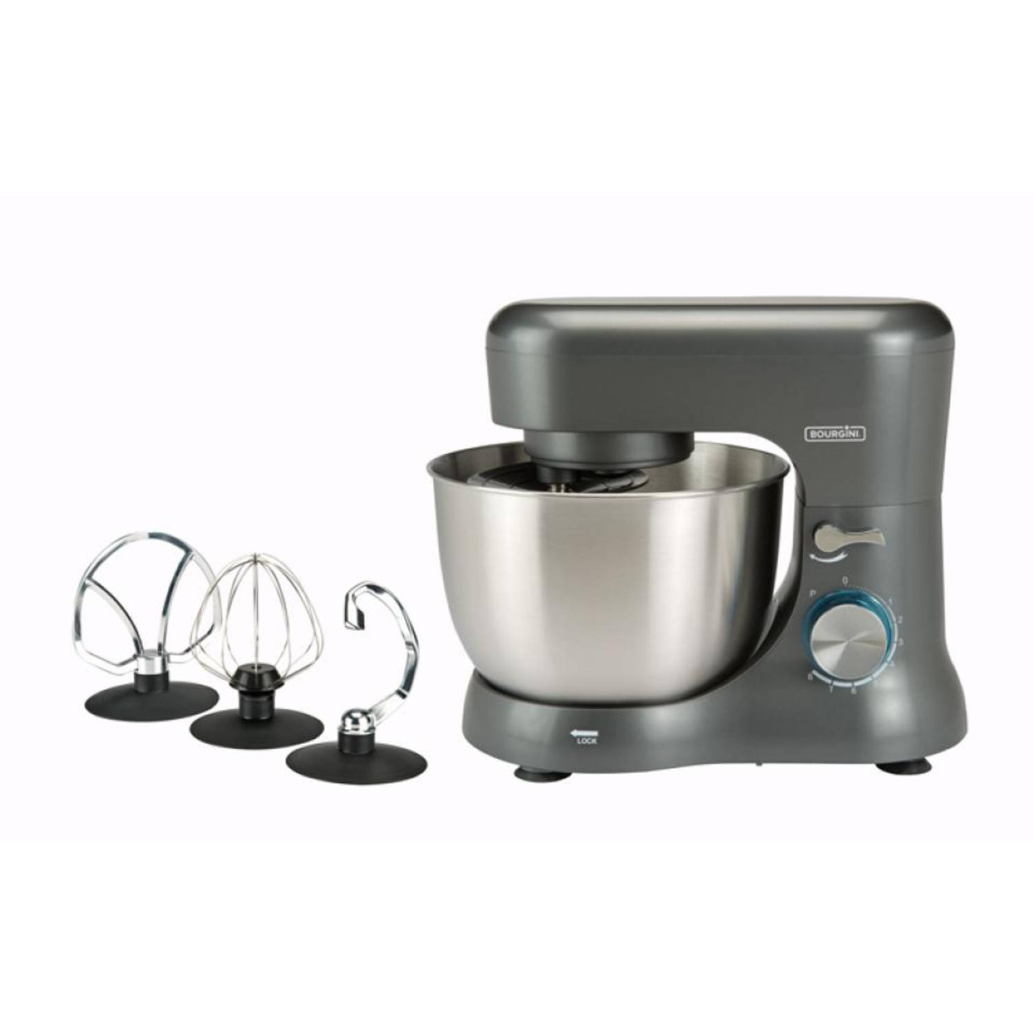 Bourgini keukenmachine Compact Kitchen Chef Grey