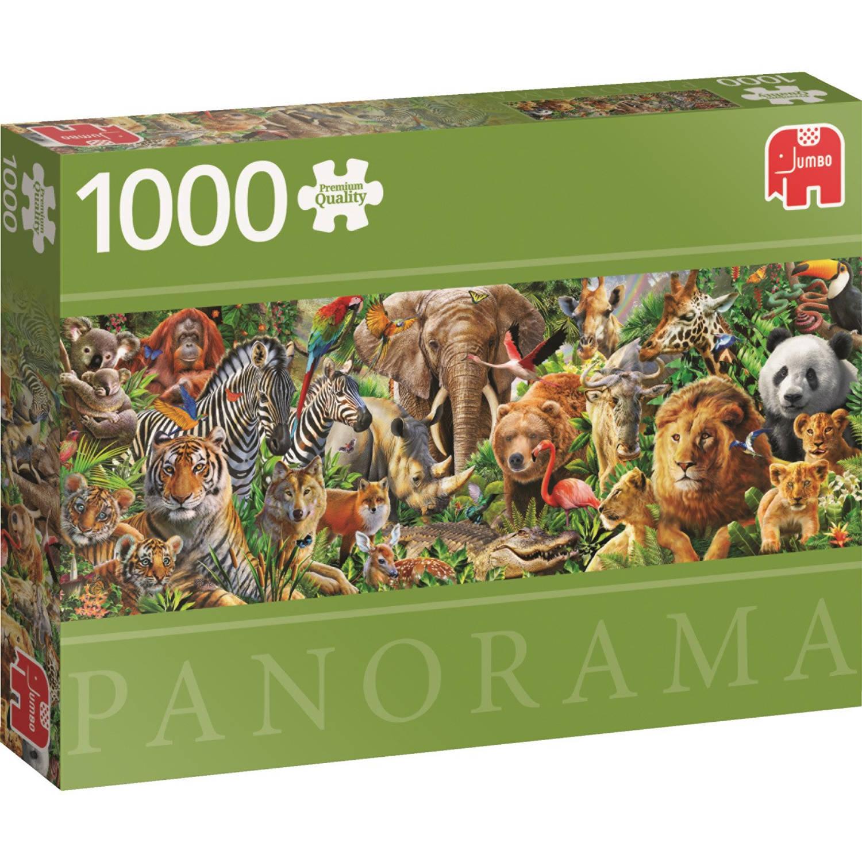 Afrikaanse dieren in het wild panorama puzzel