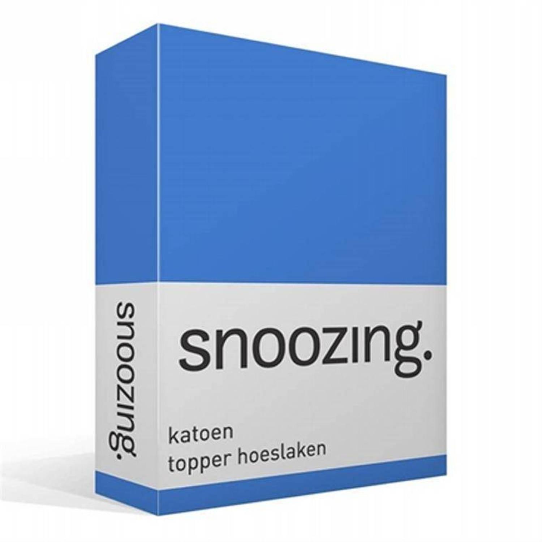 Snoozing katoen topper hoeslaken - 100% katoen - 1-persoons (100x200 cm) - Meermin
