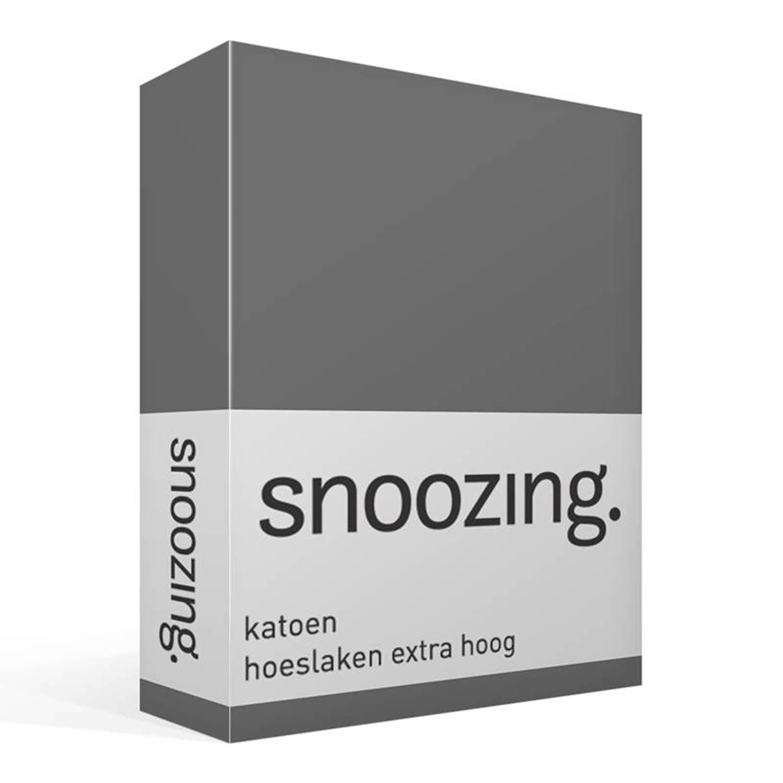 Snoozing katoen hoeslaken extra hoog - lits-jumeaux (160x210 cm)