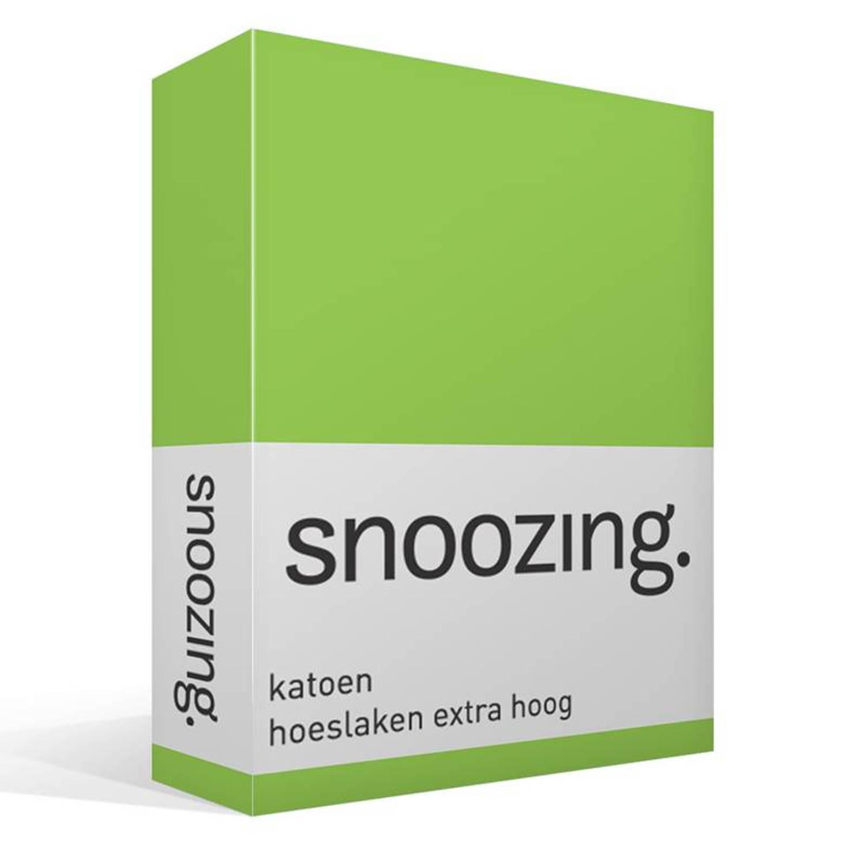 Snoozing katoen hoeslaken extra hoog - 1-persoons (90x210 cm)