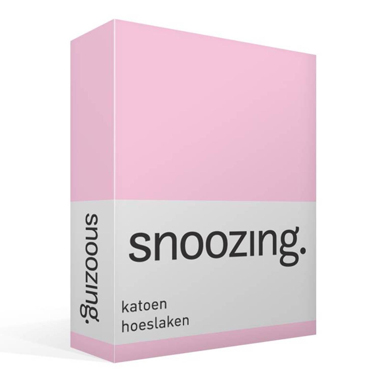 Snoozing katoen hoeslaken 100 katoen 1 persoons (80x220 cm) Roze