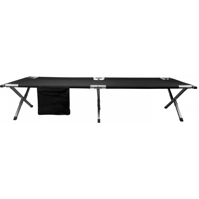 Afbeelding van Abbey campingbed luxe 210 x 75 x 43 cm zwart