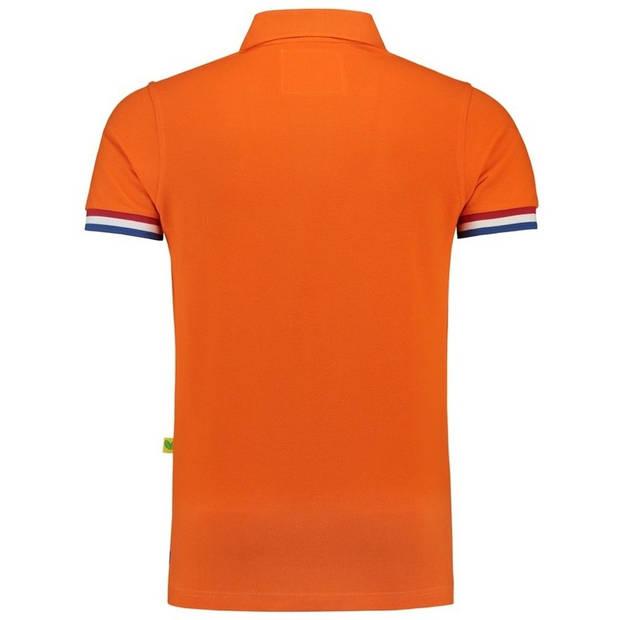 Oranje polo shirt Holland heren - Oranje supporter/ Koningsdag kleding XL