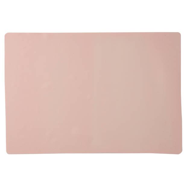Blokker bakmat - siliconen - 34 x 24,5 cm - roze