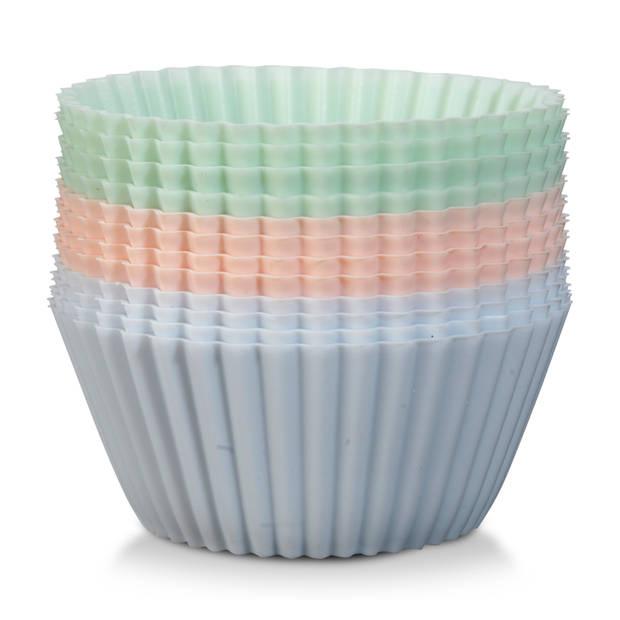 Blokker cupcakevormpjes - siliconen - ø 7 cm - 12 stuks