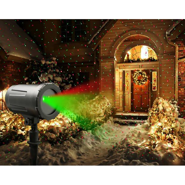 Laserprojector kerstverlichting - 4 patronen