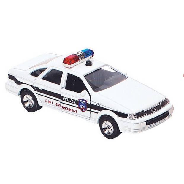 Goki hulpdienst auto: politiewagen 13 cm wit