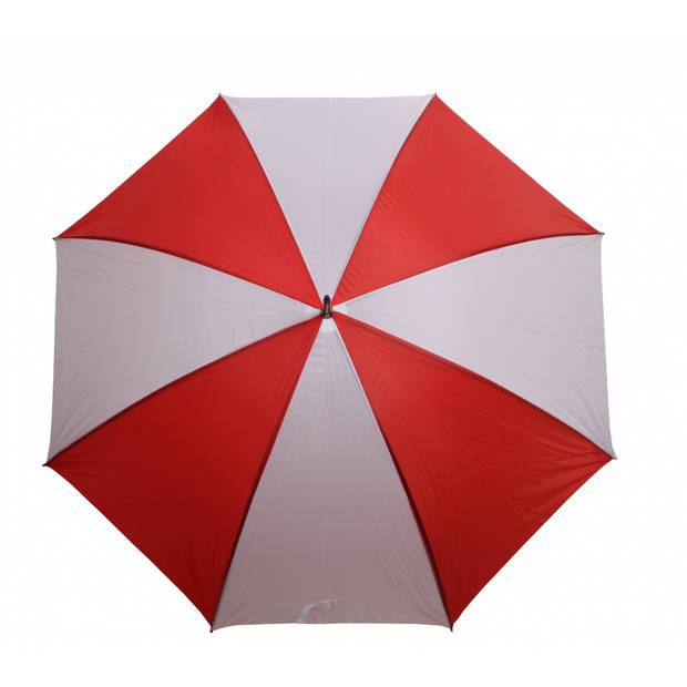 Yello Paraplu Golf 130 cm polyester rood/wit