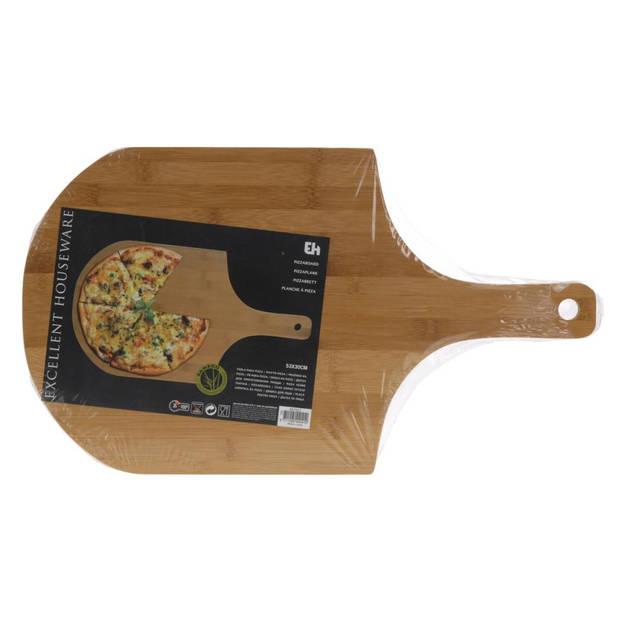 Excellent Houseware pizzasnijplank - bamboe - 53 x 30 cm