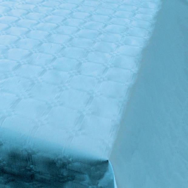 Baby blauw papieren tafellaken/tafelkleed 800 x 118 cm op rol - Blauwe thema tafeldecoratie versieringen