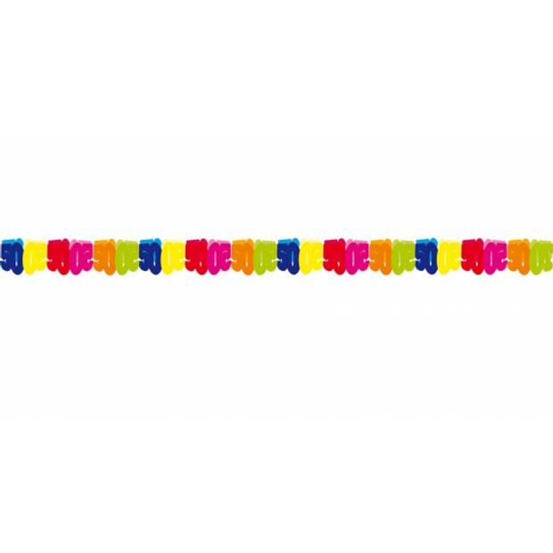 Papieren verjaardag feest slingers 50 jaar thema 6 meter - Feestartikelen/versiering