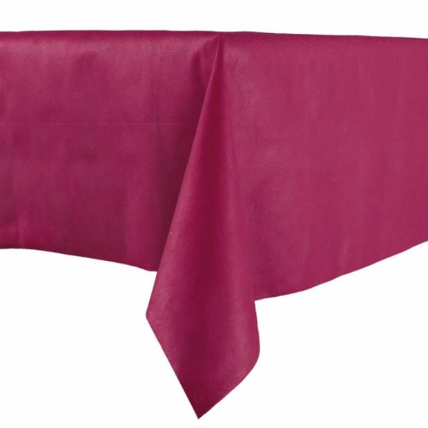 Luxe papieren tafelkleed bordeaux 140 x 240 cm