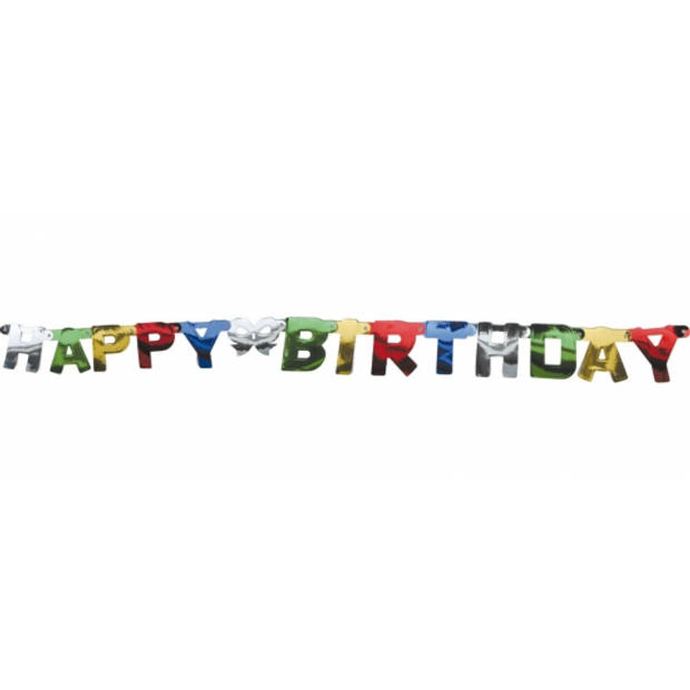 Wenslijn happy birthday slinger - 1,5 mtr - Verjaardag feestslinger