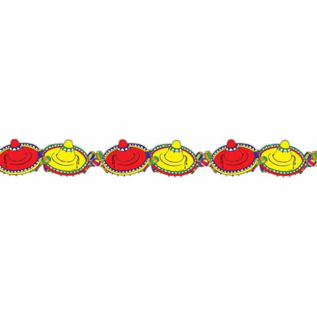 Mexicaanse sombrero slinger - 3 meter - feestslinger