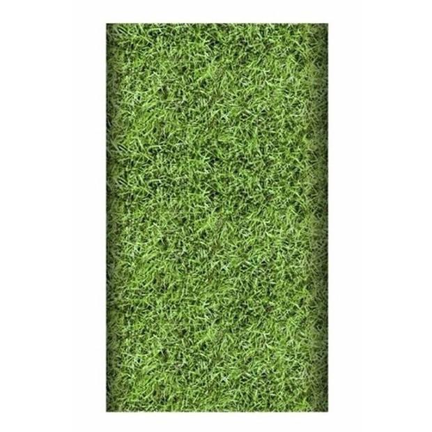 Papieren tafelkleed grasmat 180 cm - Gras tafelkleden/voetbal thema feestartikelen en versiering