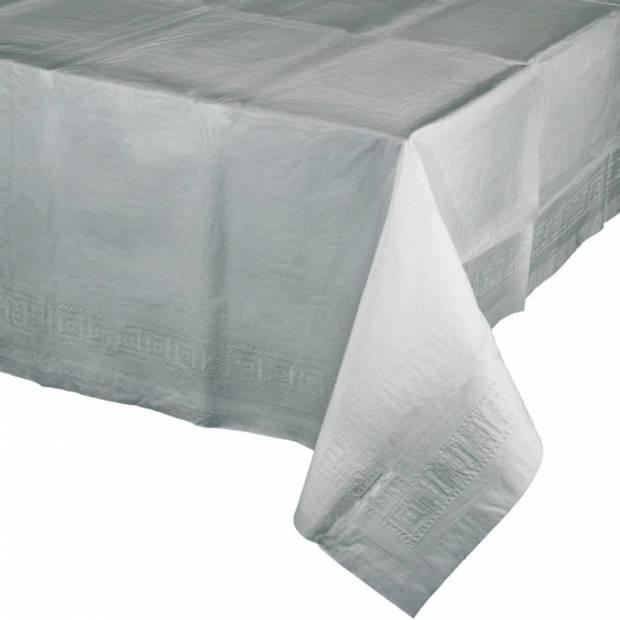 Tafelkleed zilver grijs 274 x 137 cm