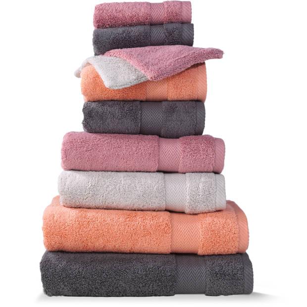 Blokker handdoek 600g - donkergrijs 110x60 cm