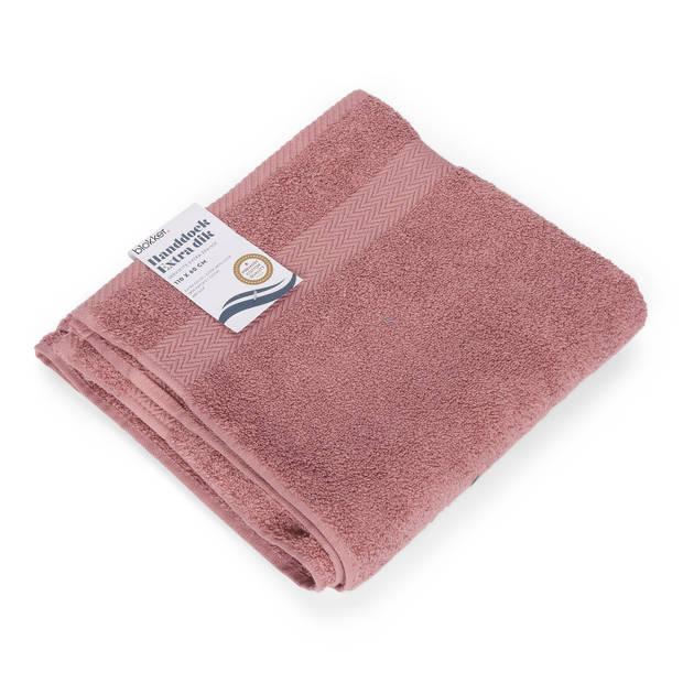 Blokker handdoek 600g - roze 110x60 cm