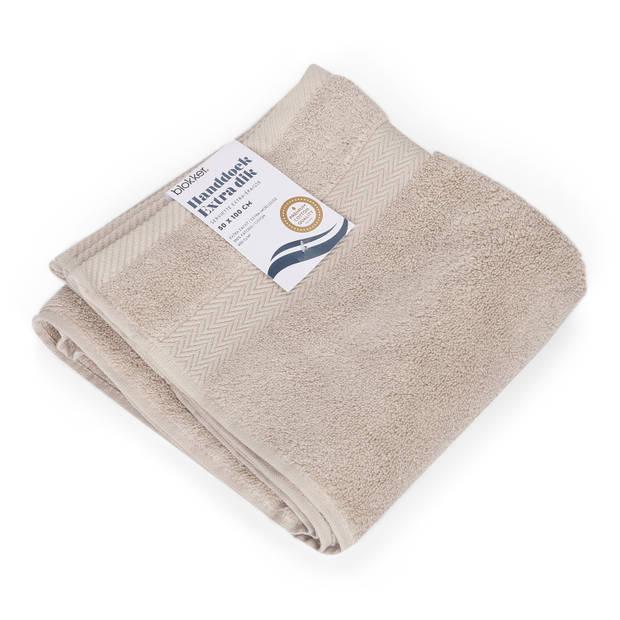 Blokker handdoek 600g - lichtgrijs 50x100 cm