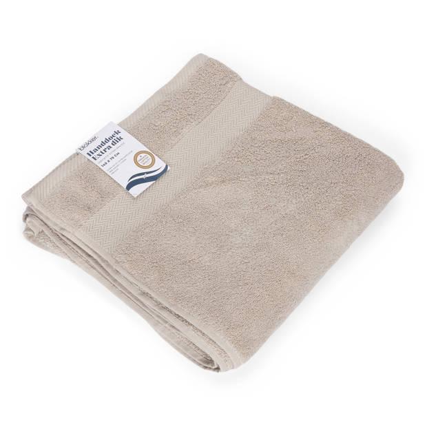Blokker handdoek 600g - lichtgrijs 140x70 cm