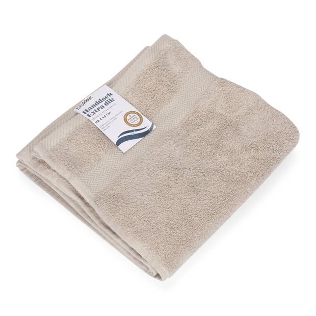 Blokker handdoek 600g - lichtgrijs 110x60 cm