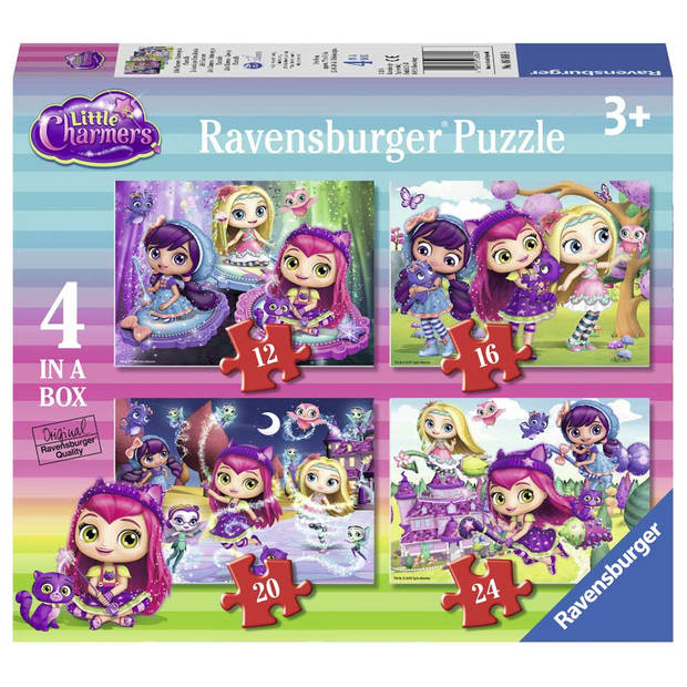RAVENSBURGER LITTLE CHARMERS 4IN1BOX PUZ