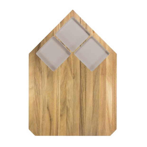 Snijplank Pau - Acaciahout - Warm Grijs - TAK Design