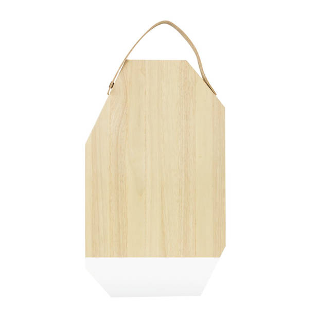Snijplank Dippo - Rubberhout met Leer - Wit - TAK Design