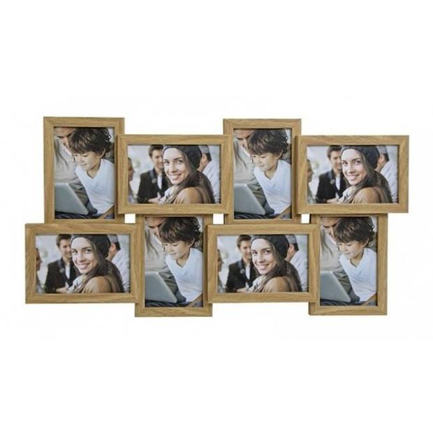 Multi fotolijst bruin 58 x 30 cm