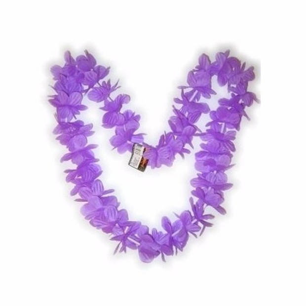 Paarse hawaii slinger
