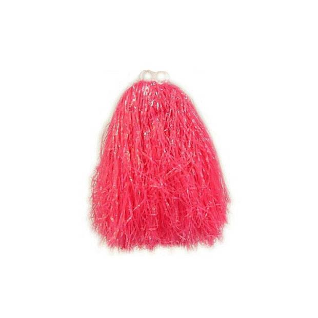 Cheerball pompom roze voor kinderen - Cheerleader verkleed accessoire