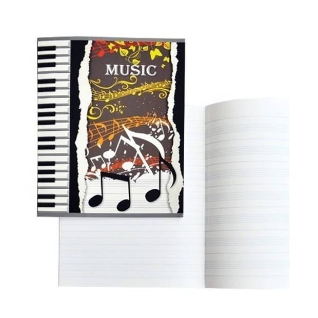 1x A5 muziekschriften met notenbalken lijntjes - educatieve schriften/muziekles schriften