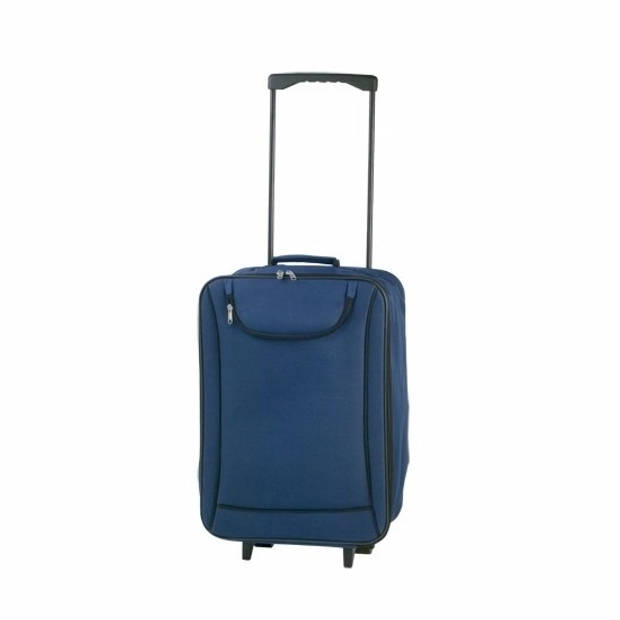 Handbagage trolley blauw - 50 cm - rolkoffer / reiskoffer