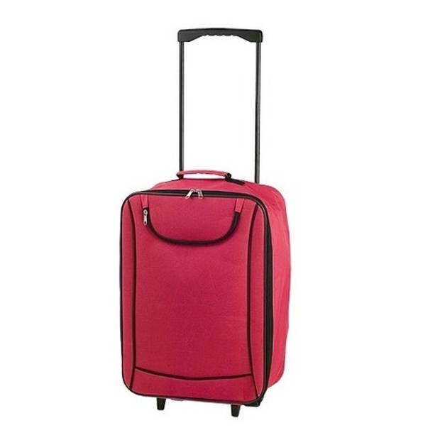 Handbagage trolley rood 1,1 kg - 35,5 x 50 x 19 cm - reiskoffer