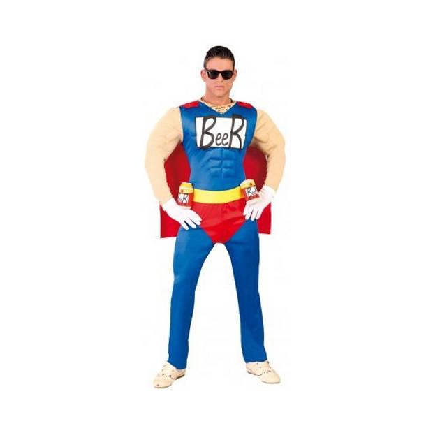 Super beer man kostuum gespierd L/XL