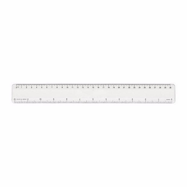 Transparant liniaal 30 cm