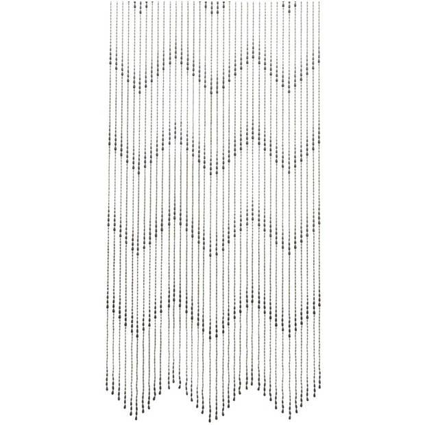 Vliegengordijn/deurgordijn kralen druppel zwart 200 cm - Insectenwerende vliegengordijnen