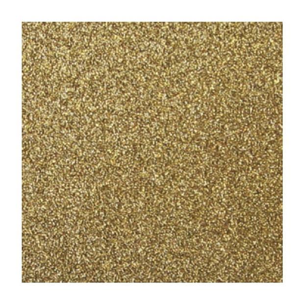1x stuks gouden glitter papier vellen 30.5 x 30.5 cmm - Hobby scrapbooking artikelen