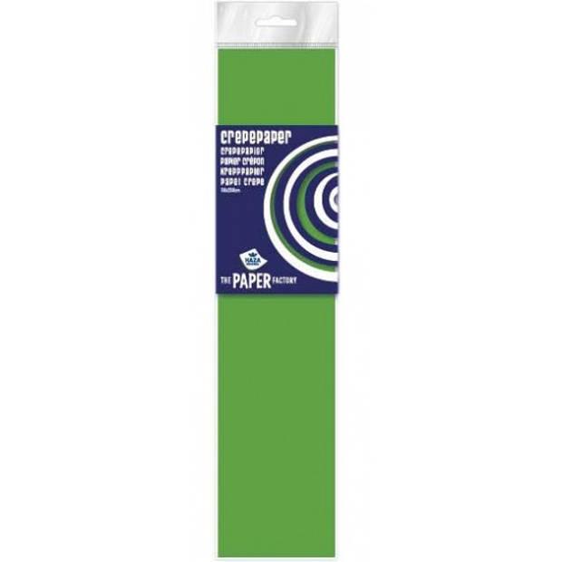 Crepe papier plat neon limegroen 250 x 50 cm - Knutselen met papier - Knutselspullen