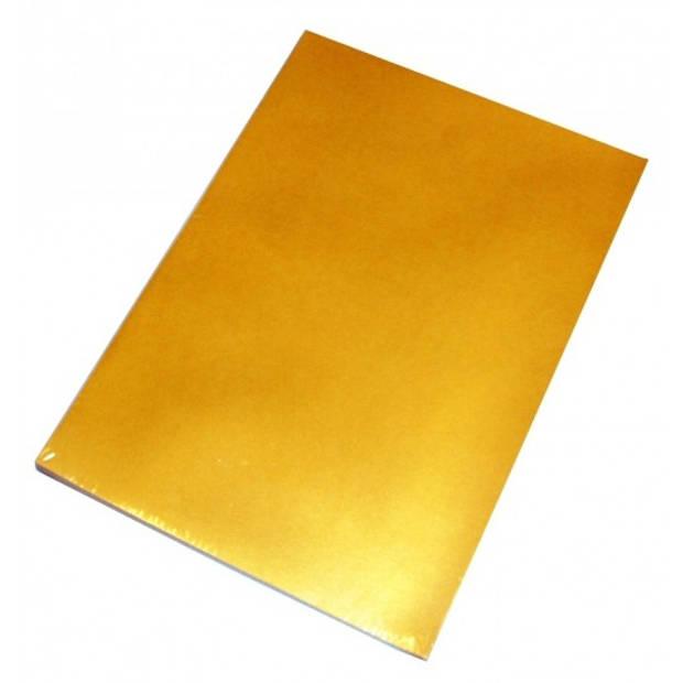 50 vellen goud A4 hobby papier - Hobbymateriaal - Knutselen met papier - Knutselpapier