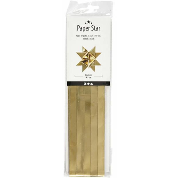 100 Papieren stroken goud 45 cm