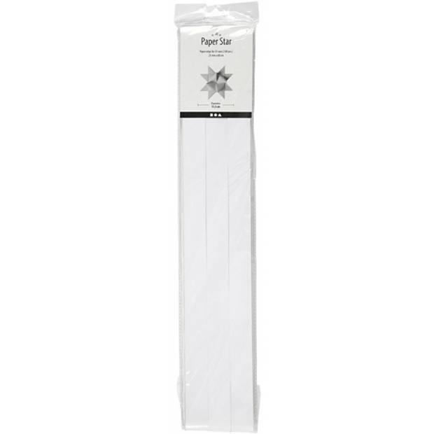 100 Papieren stroken wit 73 cm